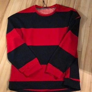 Zara Striped Textured Relaxed Fit Top